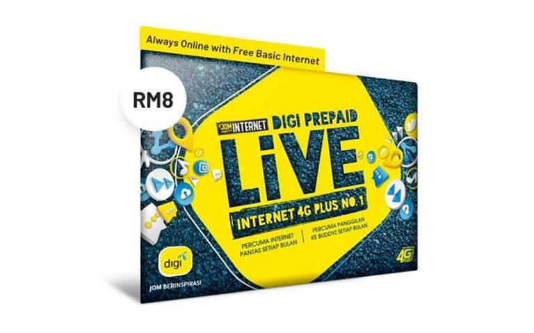 Rumusan Pas Internet Prabayar 2020: Digi Prepaid Live